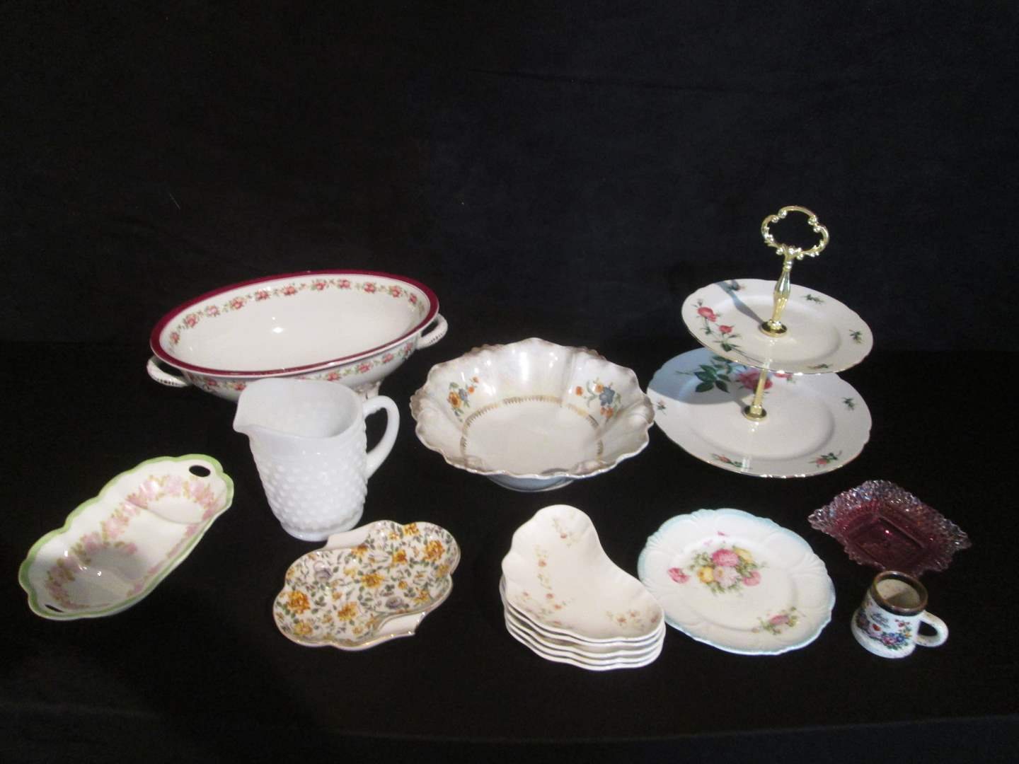 Lot # 23 - Assorted Collection of Vintage Serving Pieces, 14 Items (main image)