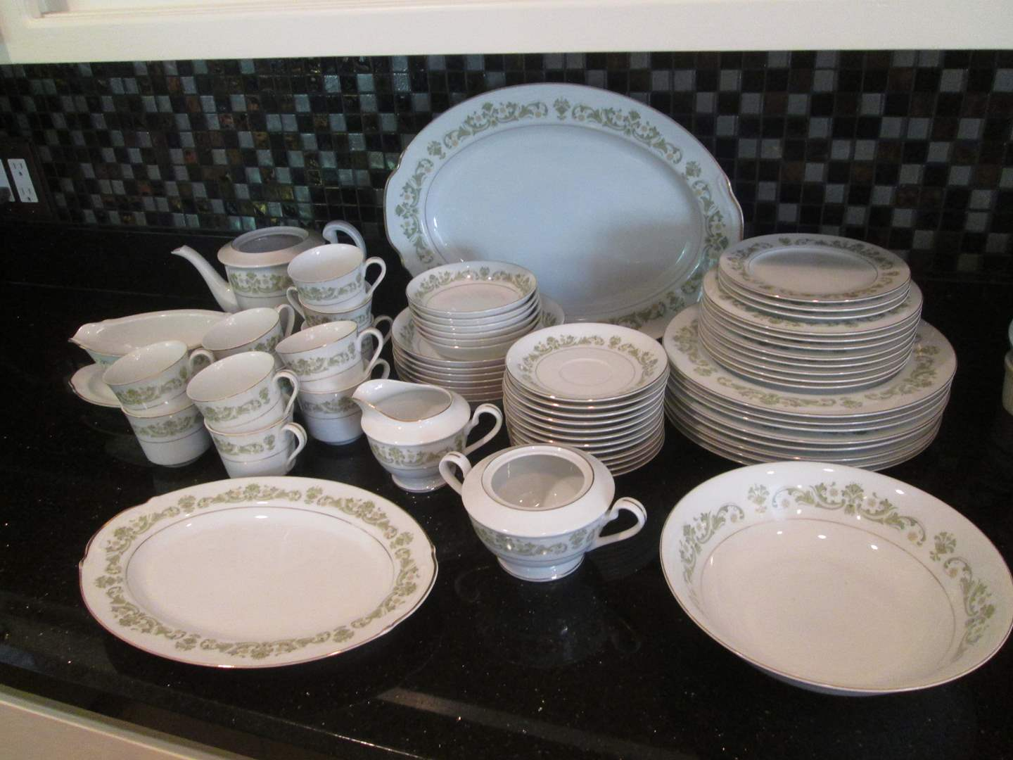 Lot # 24 - Fine China Set by Style House, 62 Pieces (main image)