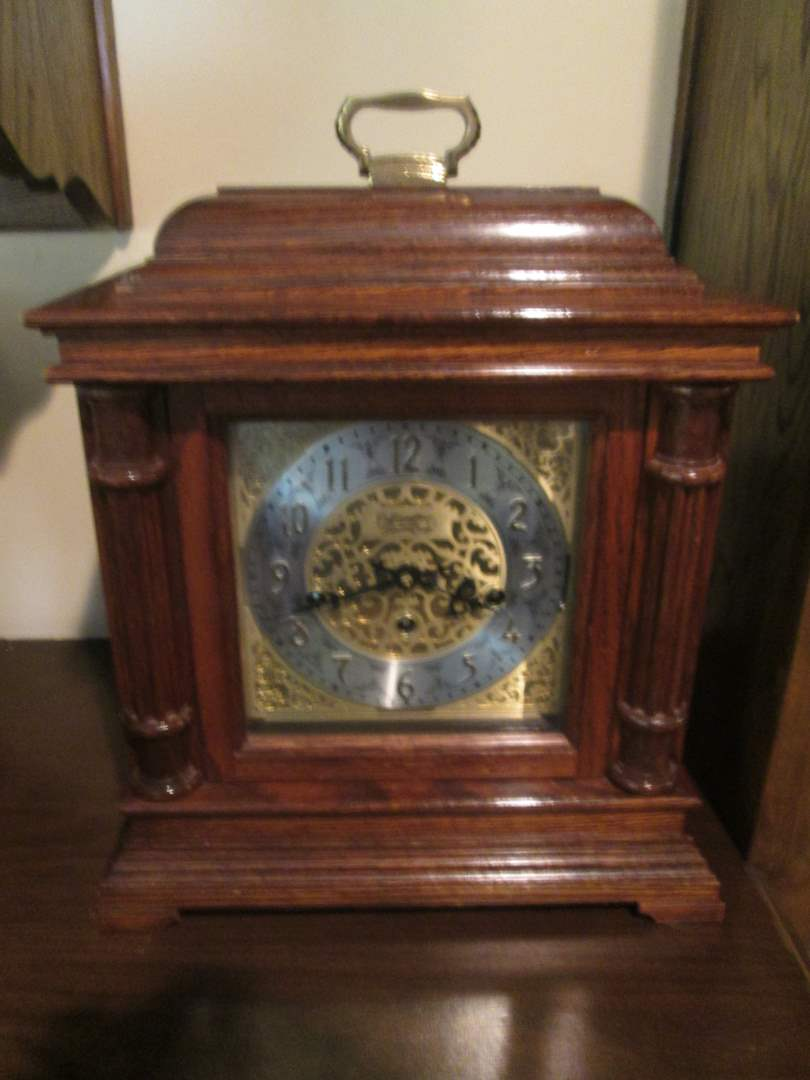 Lot # 26 - Waltham Chime, Quartz Mantel or Table Clock, Works! (main image)