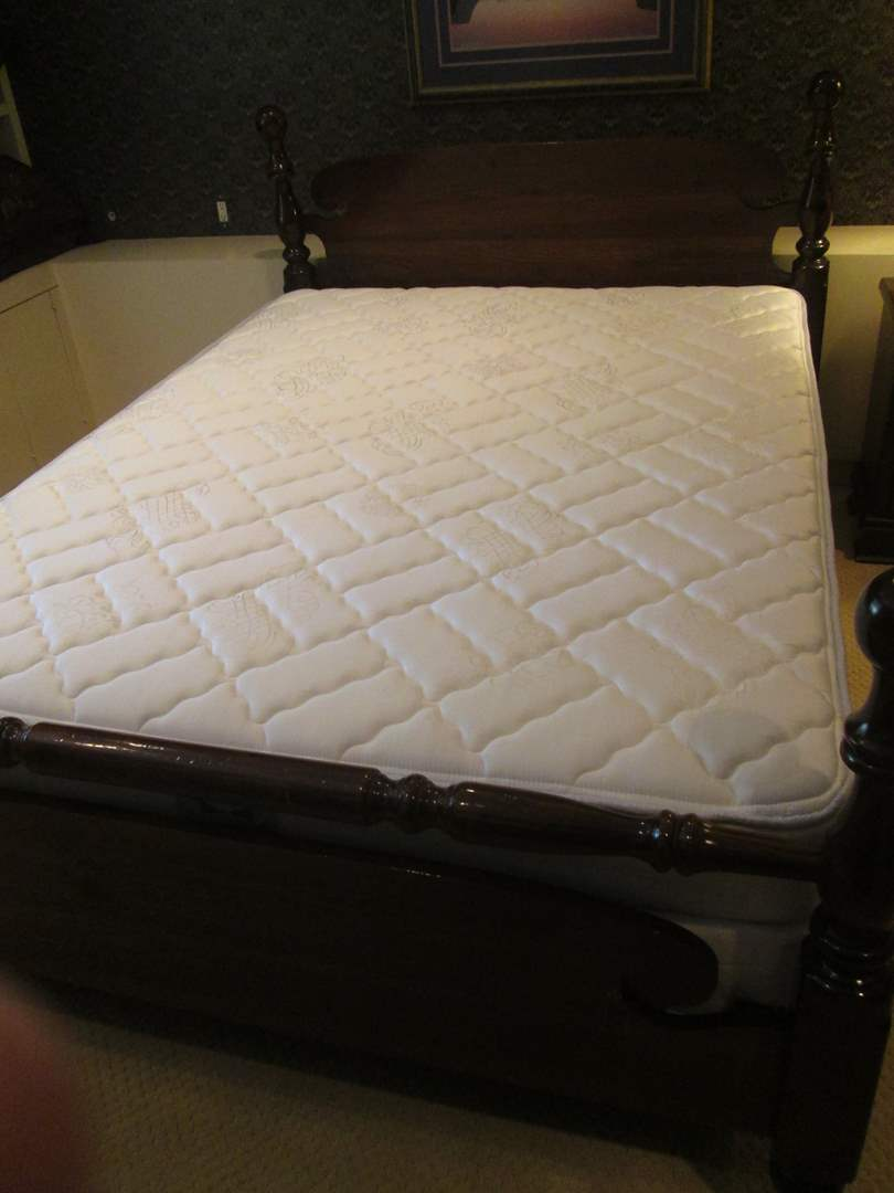 Lot # 51 - Cannon Ball Design Queen Bed with Sealy Queen Mattress Set (main image)