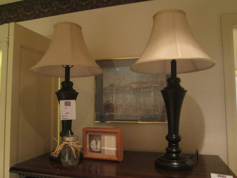 Lot # 59 - Pair of Lamps Plus Accessories & Picture, 4 Pieces (main image)