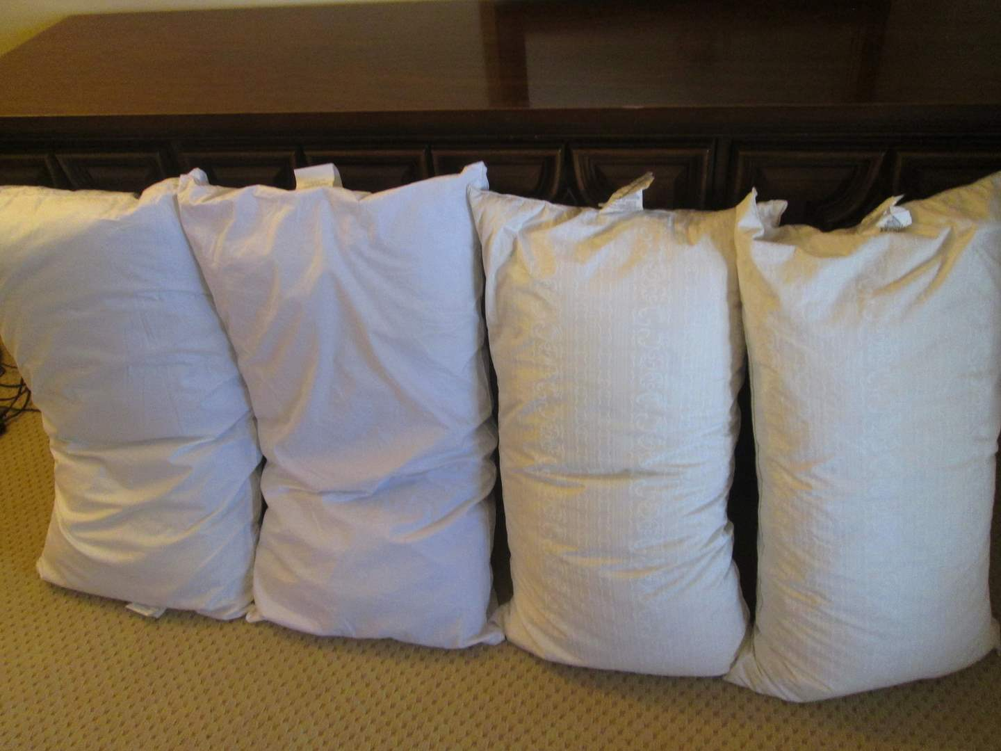 Lot # 63 - 4-Bed Pillows:  2-Goose Down & 2-Polyester (main image)