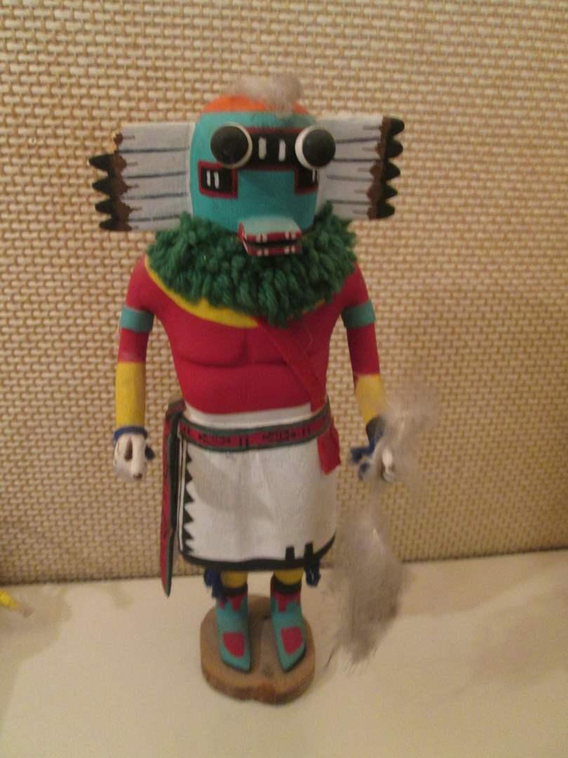 "Lot # 71 - 17"" Hopi Kachina ""Holi Kachina"" (Chipped Feather) (main image)"