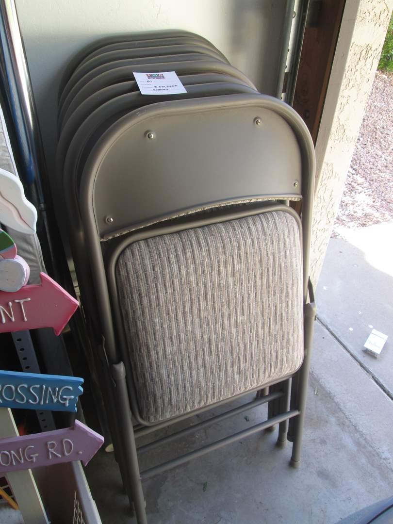 Lot # 81 - 8-Folding Chairs (main image)