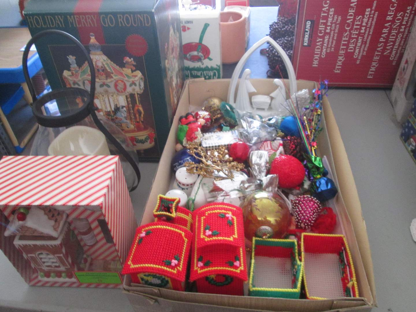 Lot # 83 - Holiday Items, including Creche & Merry-Go-Round (main image)