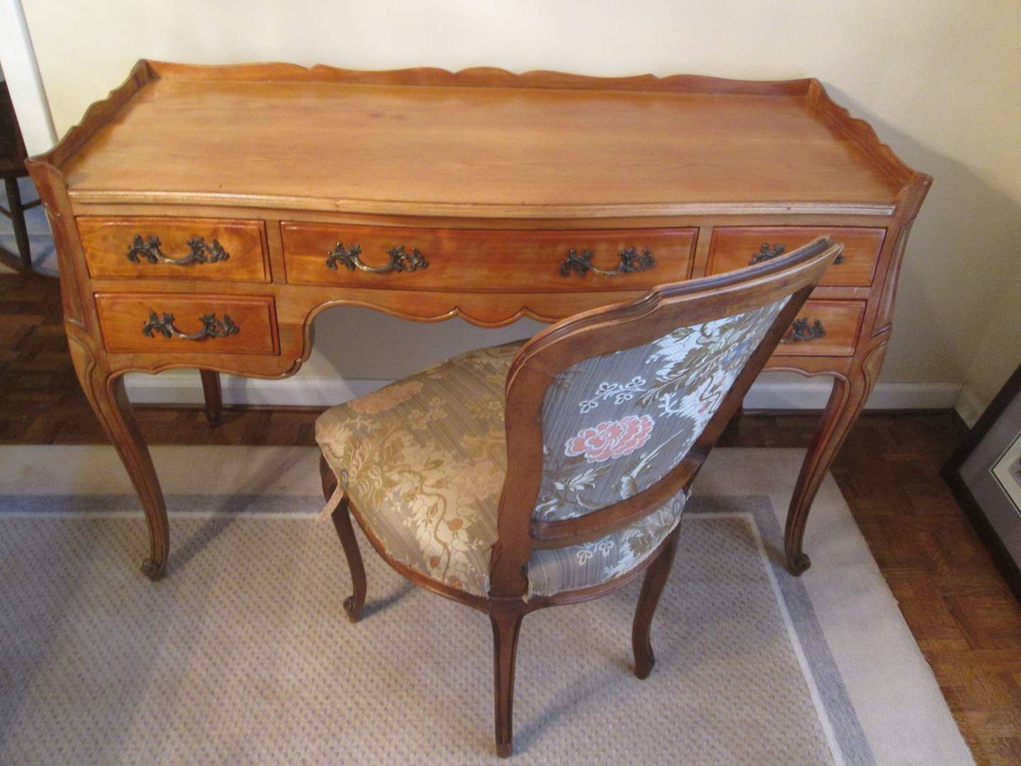 Lot # 97 - Writing Desk & Chair, French Style, C-1940's-1950's (main image)