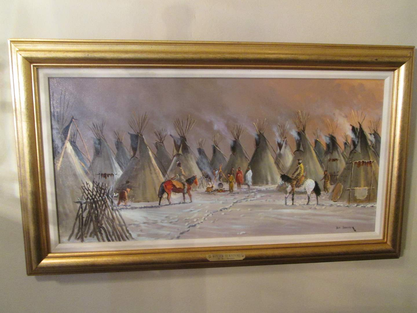 "Lot # 101 - ""Winter Survival"" by Bill Shaddix, Oil Painting Estimated Value $2,000+ (main image)"