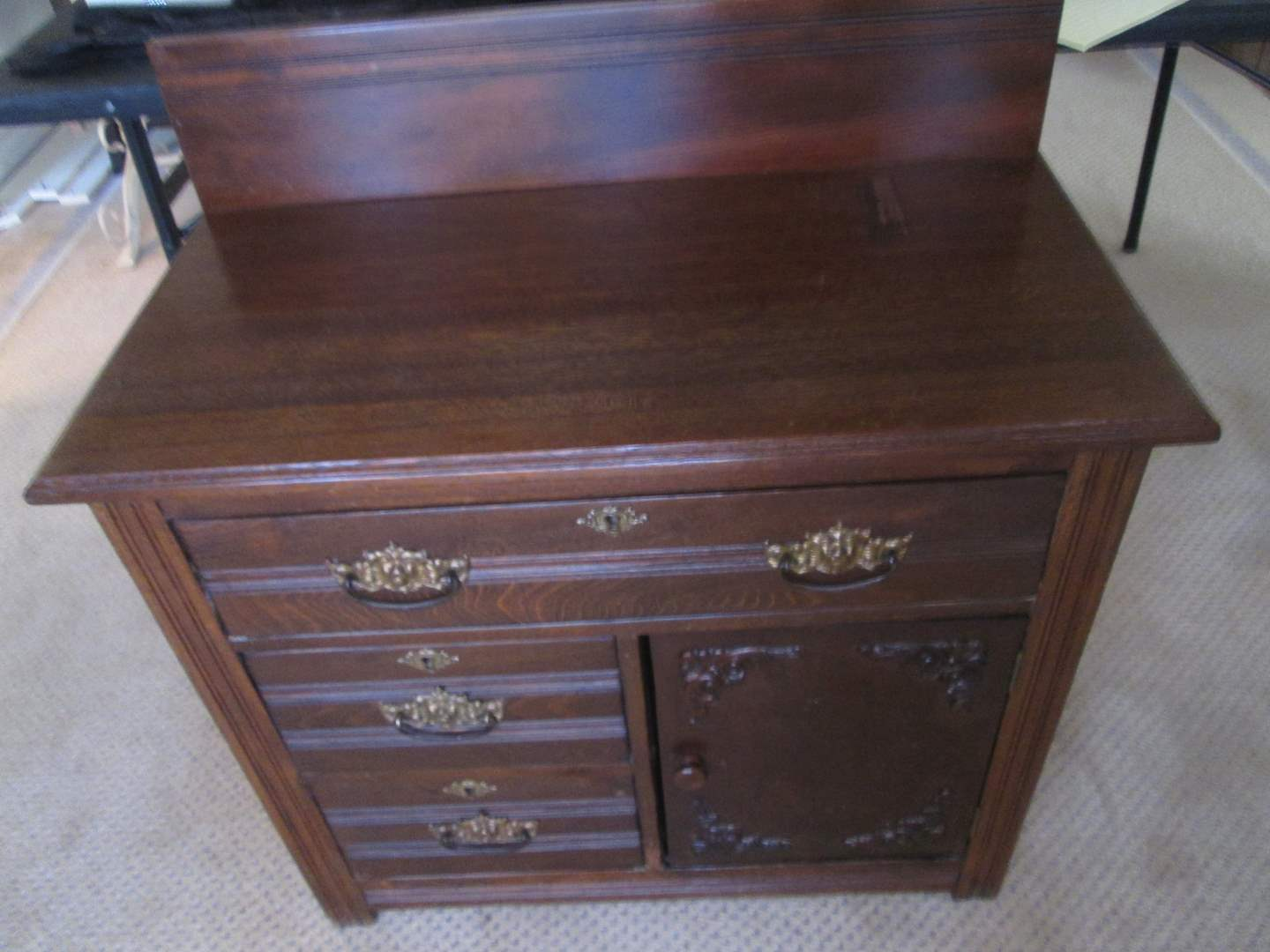 Lot # 104 - Chest & 2-Framed Pictures (main image)