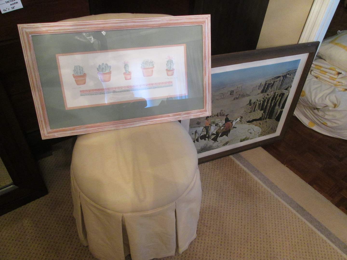 Lot # 105 - Slipper Chair & 2-Framed Pictures (main image)