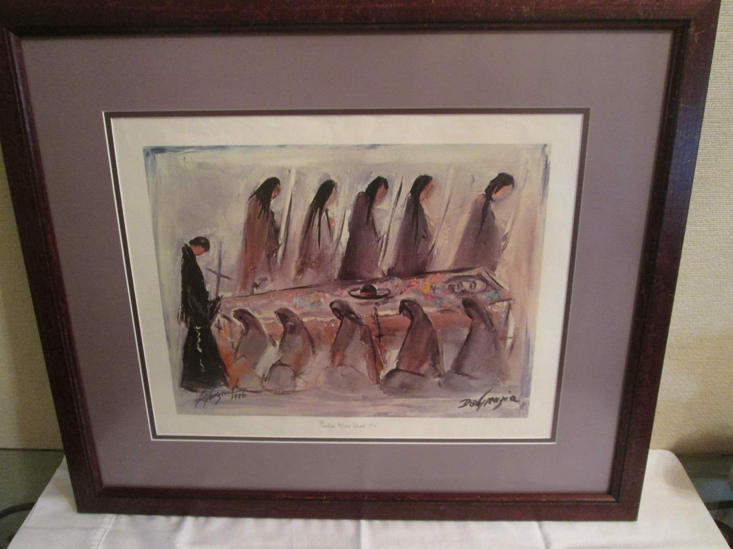 """Lot # 107 - """"Padre Kino Dies 1711"""" by DeGrazia, Double Signed, 1986 (main image)"""