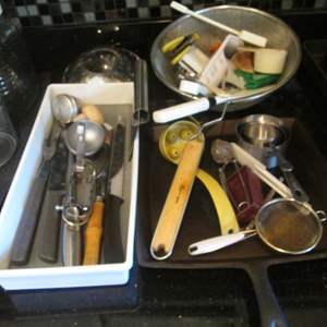 Auction Thumbnail for: Lot # 118 - Griddle & Miscellaneous Cutlery