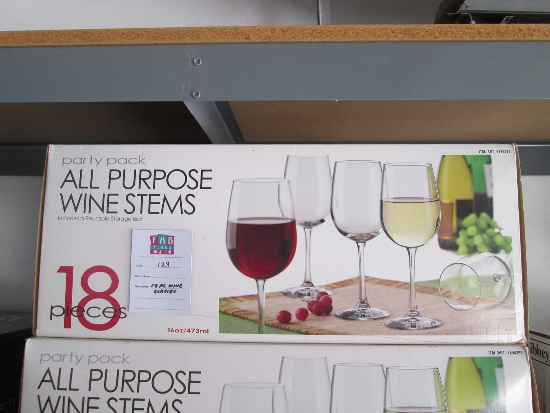 Lot # 129 - 18-Piece Wine Glasses (main image)