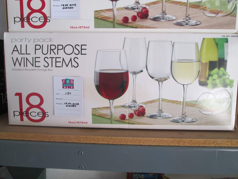 Lot # 130 - 18-Piece Wine Glasses (main image)