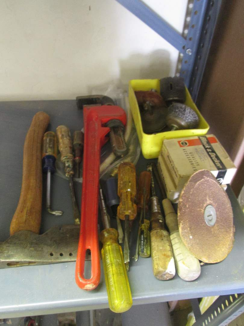 Lot # 146 - Assorted Hand Tools & Hardware (main image)