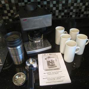 """Auction Thumbnail for: Lot # 188 - """"Mr Coffee"""" Espresso & Cappuccino Maker + Cups"""
