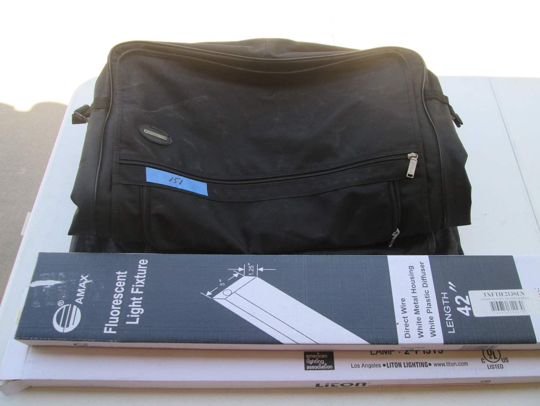 Lot # 151 - 2-Light Fixtures, 6-Garment Bags + Misc Hardware (main image)