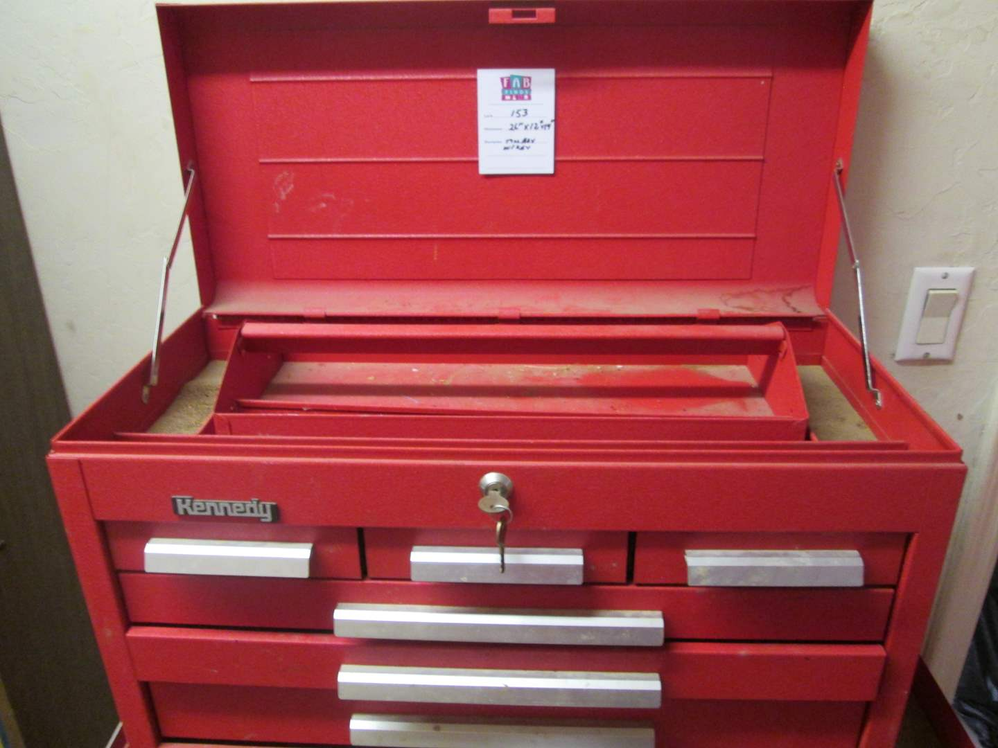 Lot # 153 - Tool Chest with Key (main image)