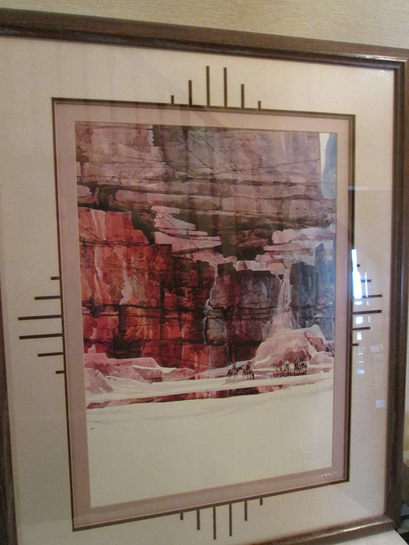 """Lot # 253 - Framed Landscape Picture 31"""" x 38"""" (main image)"""