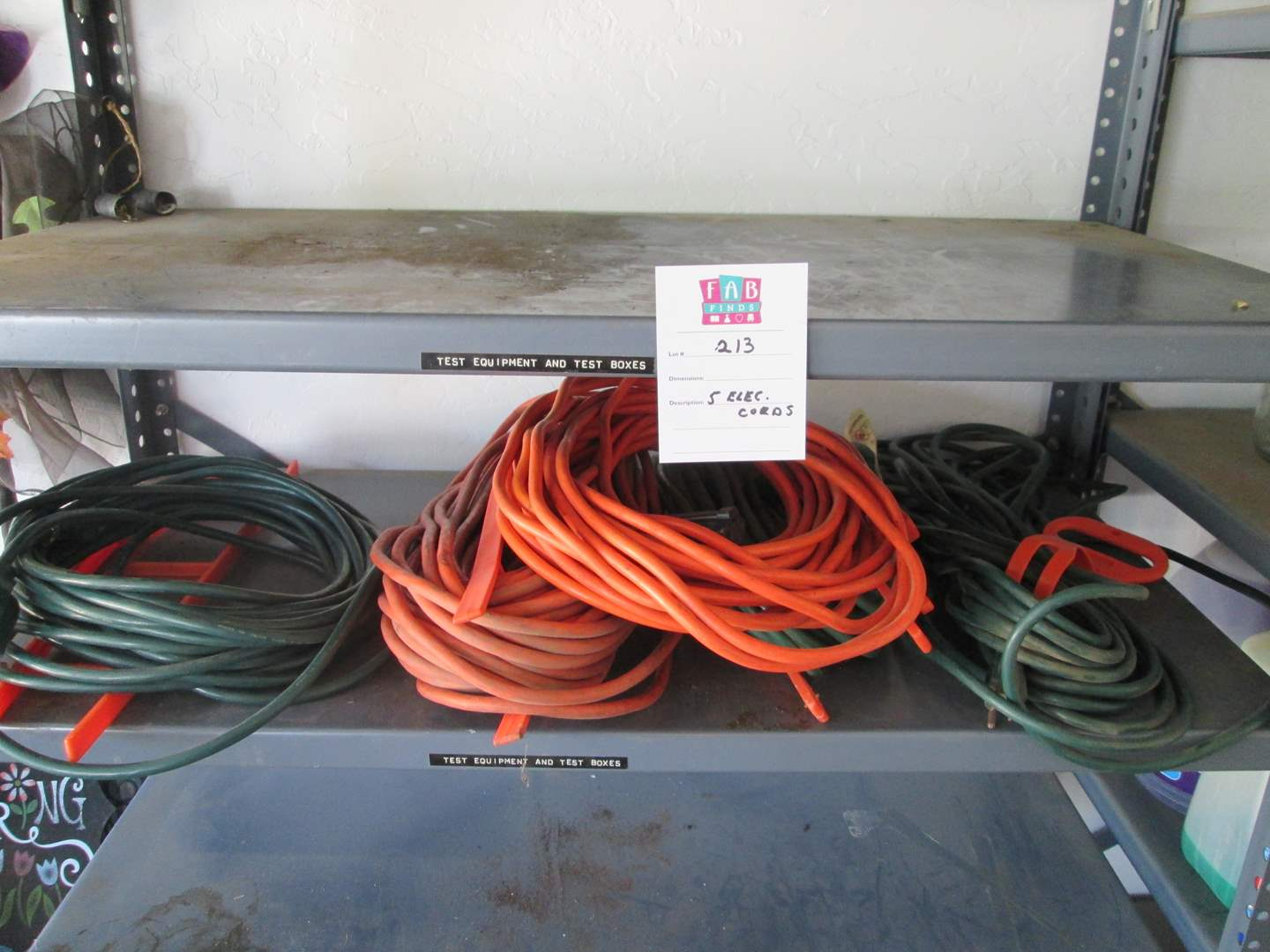 Lot # 213 - 5-Extension Cords (main image)