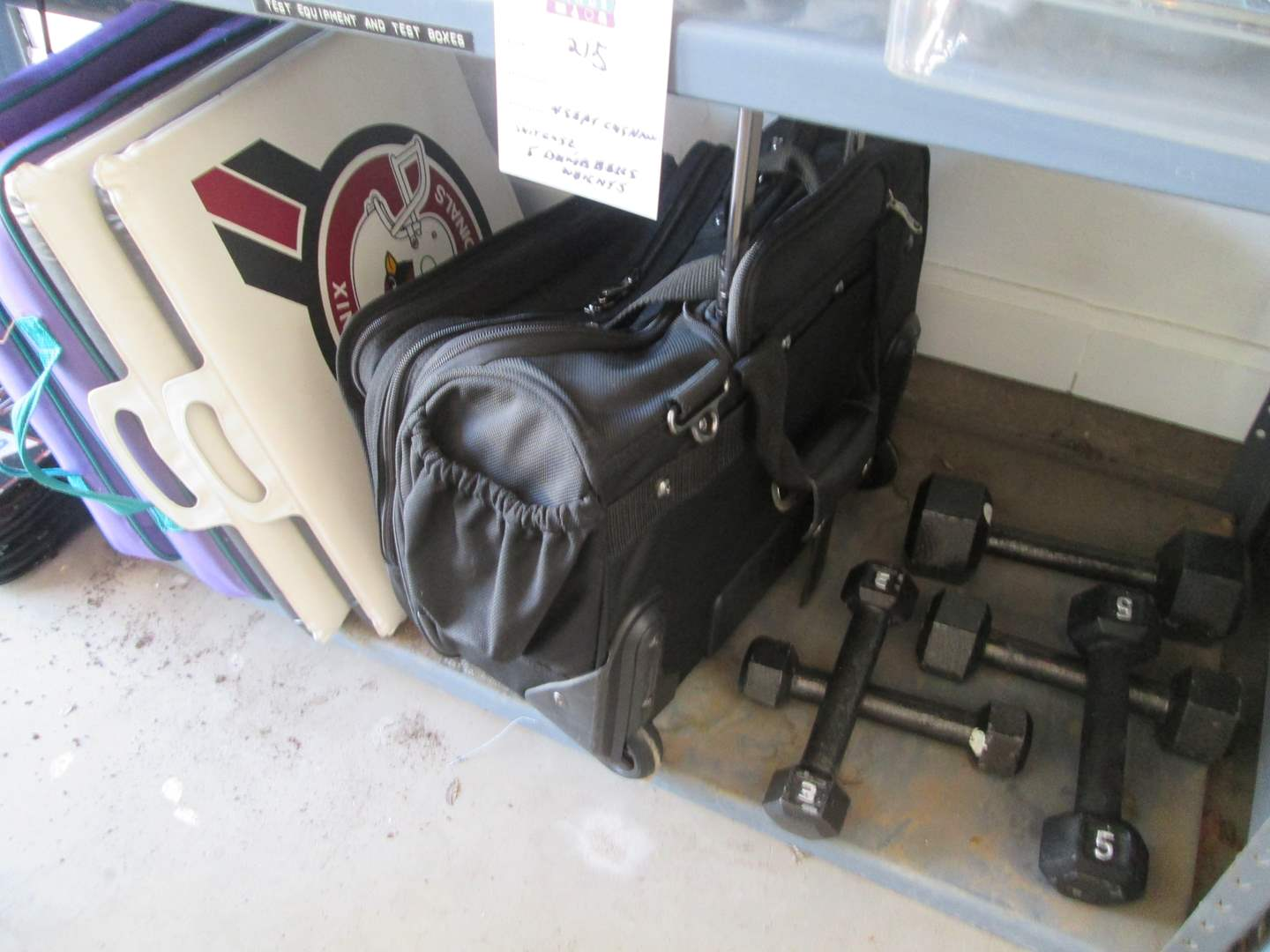 Lot # 215 - 5-Hand Weights, 4-Seat Cushions, Travel Case (main image)
