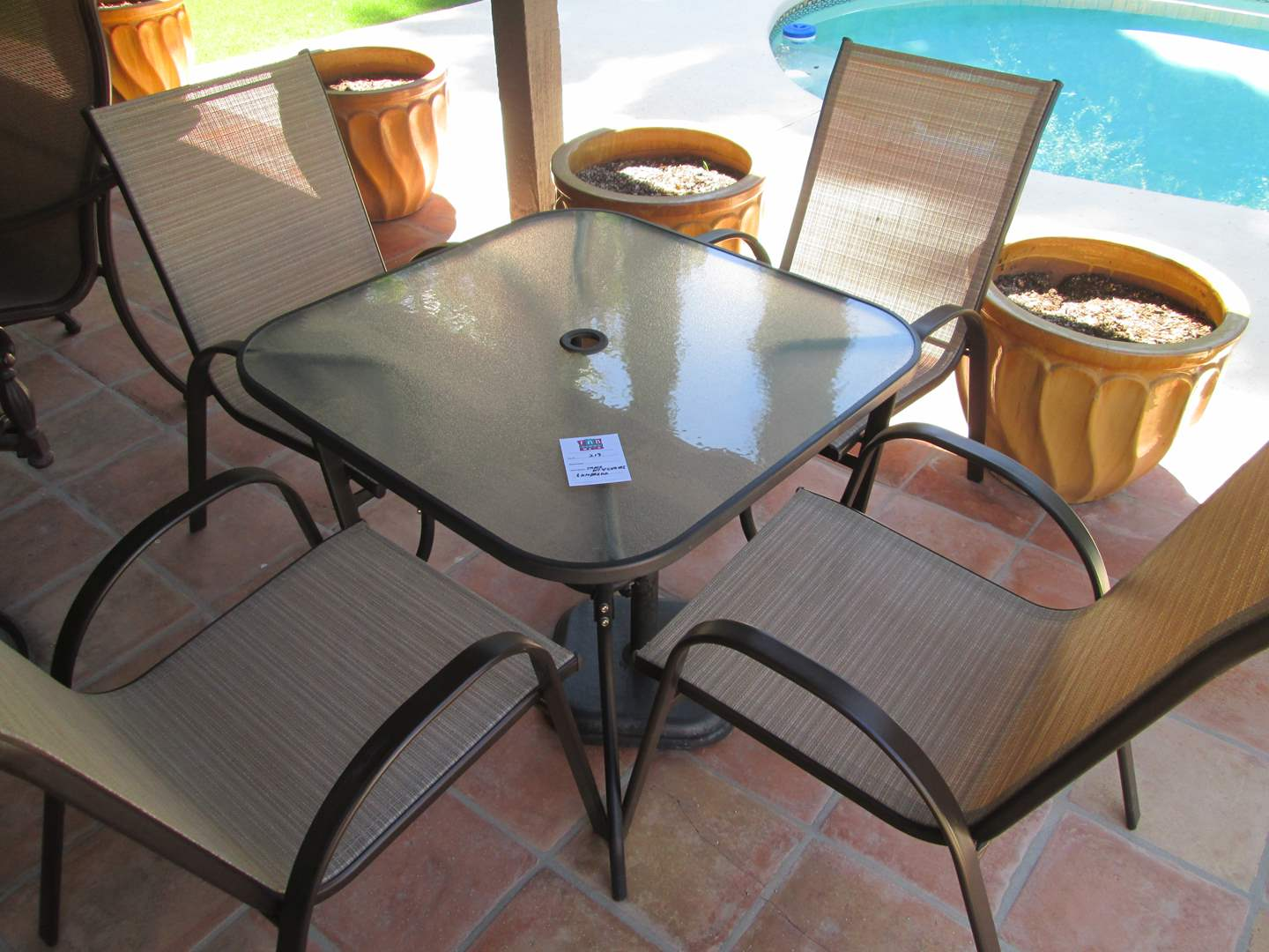 "Lot #219 - Patio Table/4-Chairs & Umbrella (not shown) 26"" x 26"" (main image)"
