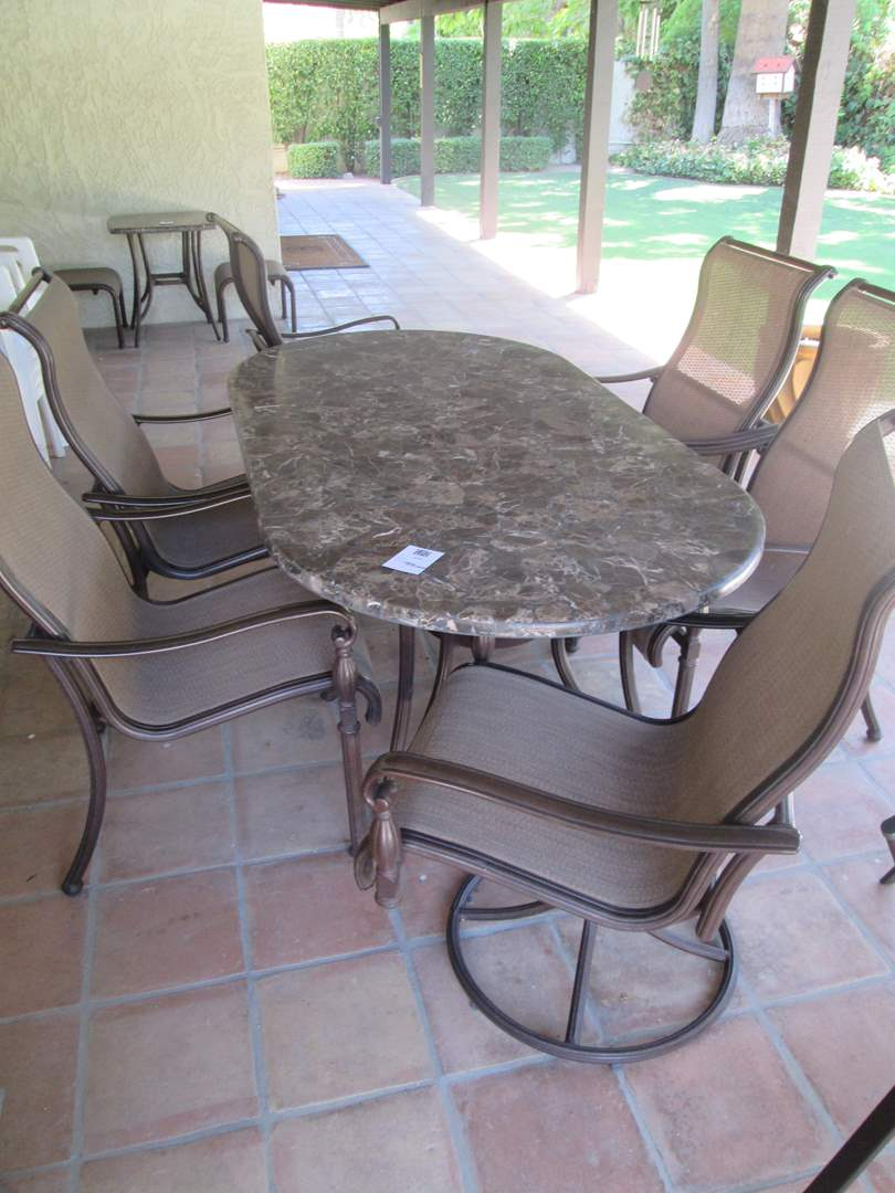 """Lot # 220 - Patio Table/6-Chairs 42"""" x 80"""" (main image)"""