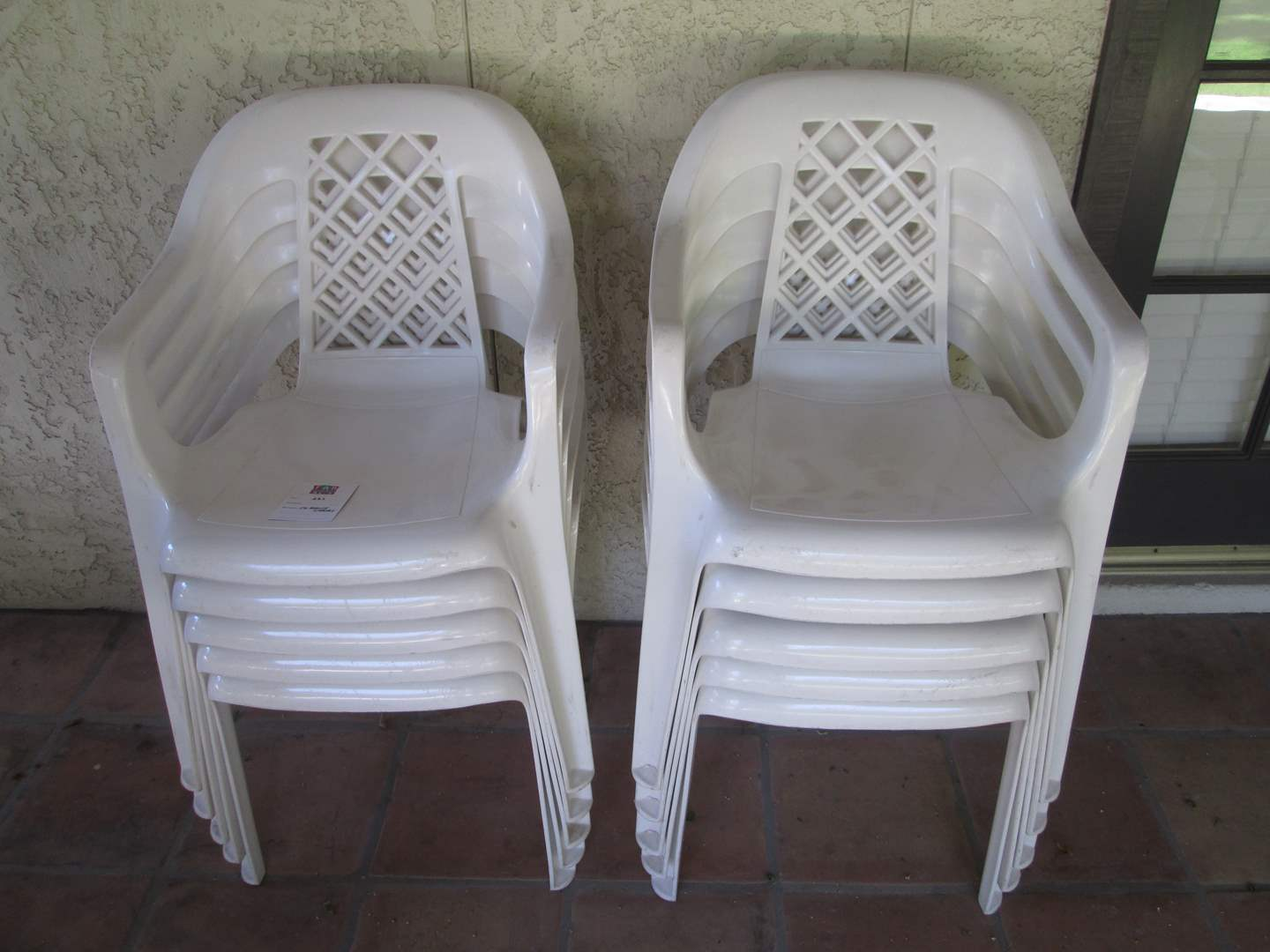 Lot # 221 - 10-White Patio Chairs (main image)