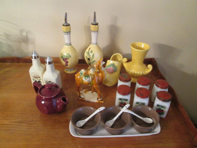 Lot # 295 - Condiment Sets & Spice Jars (main image)