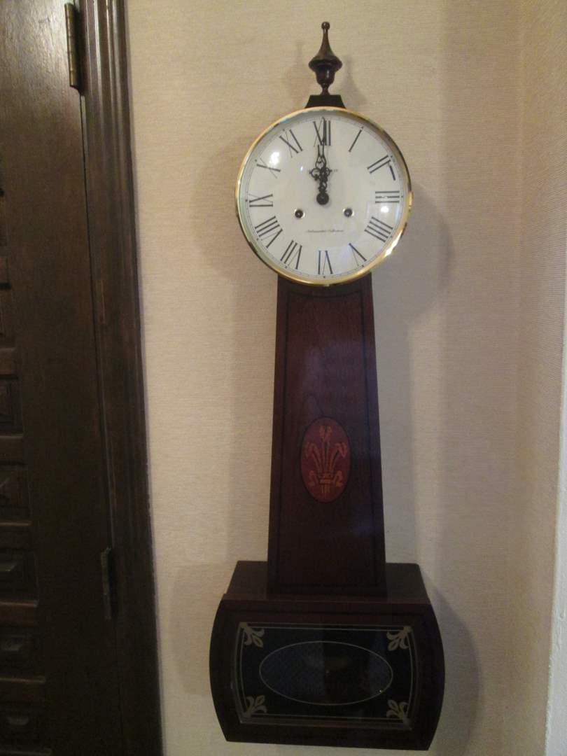"Lot # 297 - Banjo Wall Clock, Miller Ambassador Collection, Works! 12"" x 36"" (main image)"