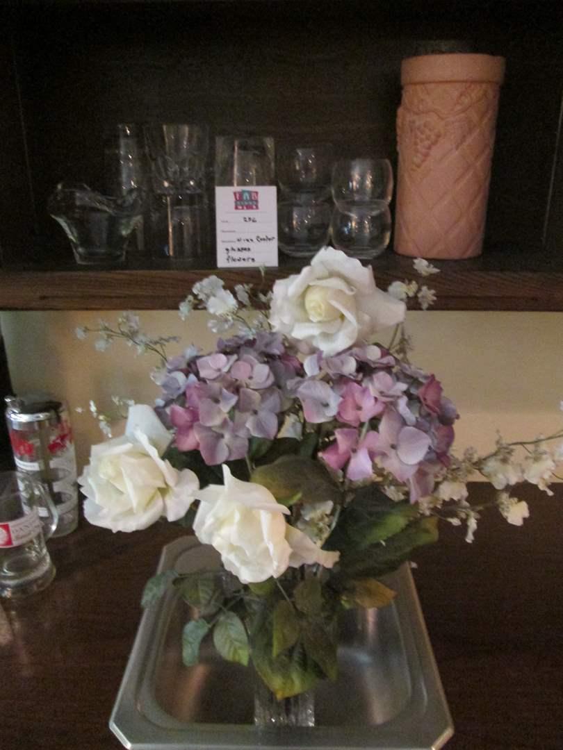 Lot # 236 - Wine Chiller, Glasses & Floral Arrangement (main image)