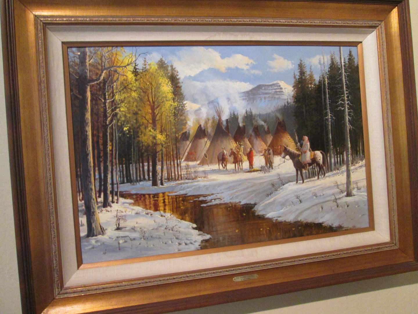 "Lot # 334 - Oil Painting ""The Traders Farewell"" by Bill Shaddix Estimated Value $2,000+ (main image)"