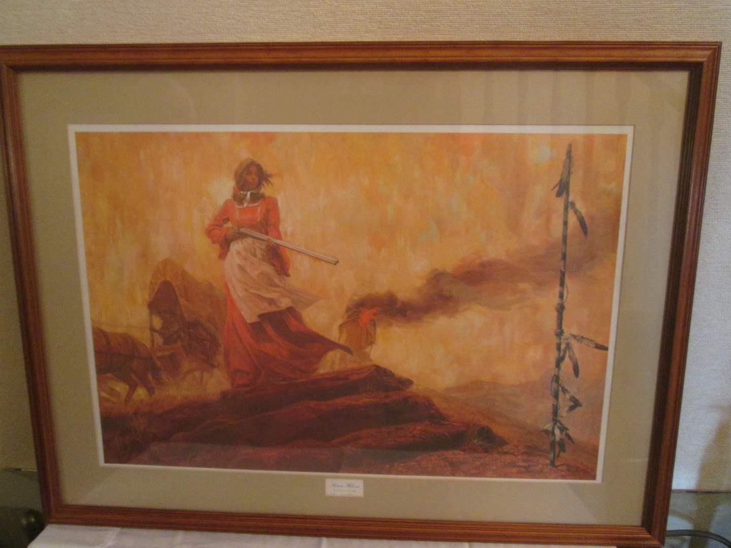 "Lot # 338 - ""Kiowa Welcome"" by Shannon Stirnweis, Ltd. Ed. (main image)"