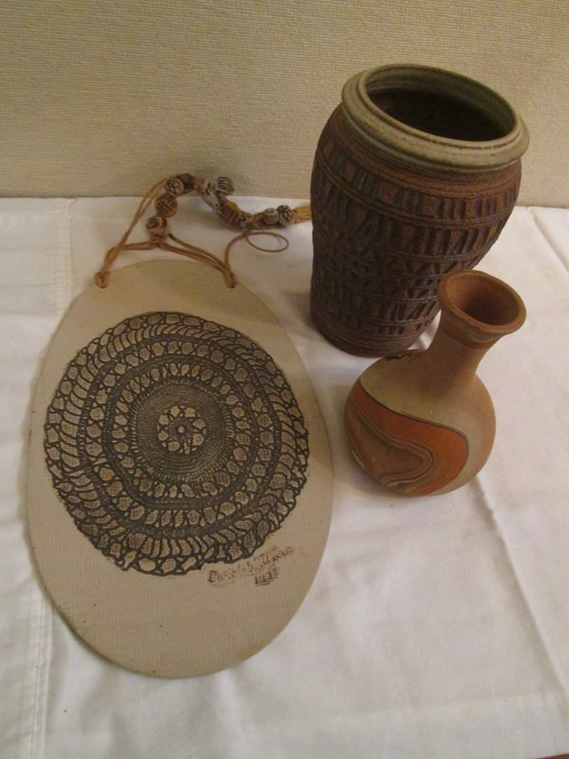 Lot # 339 - 3-Decorative Pottery Pieces (main image)