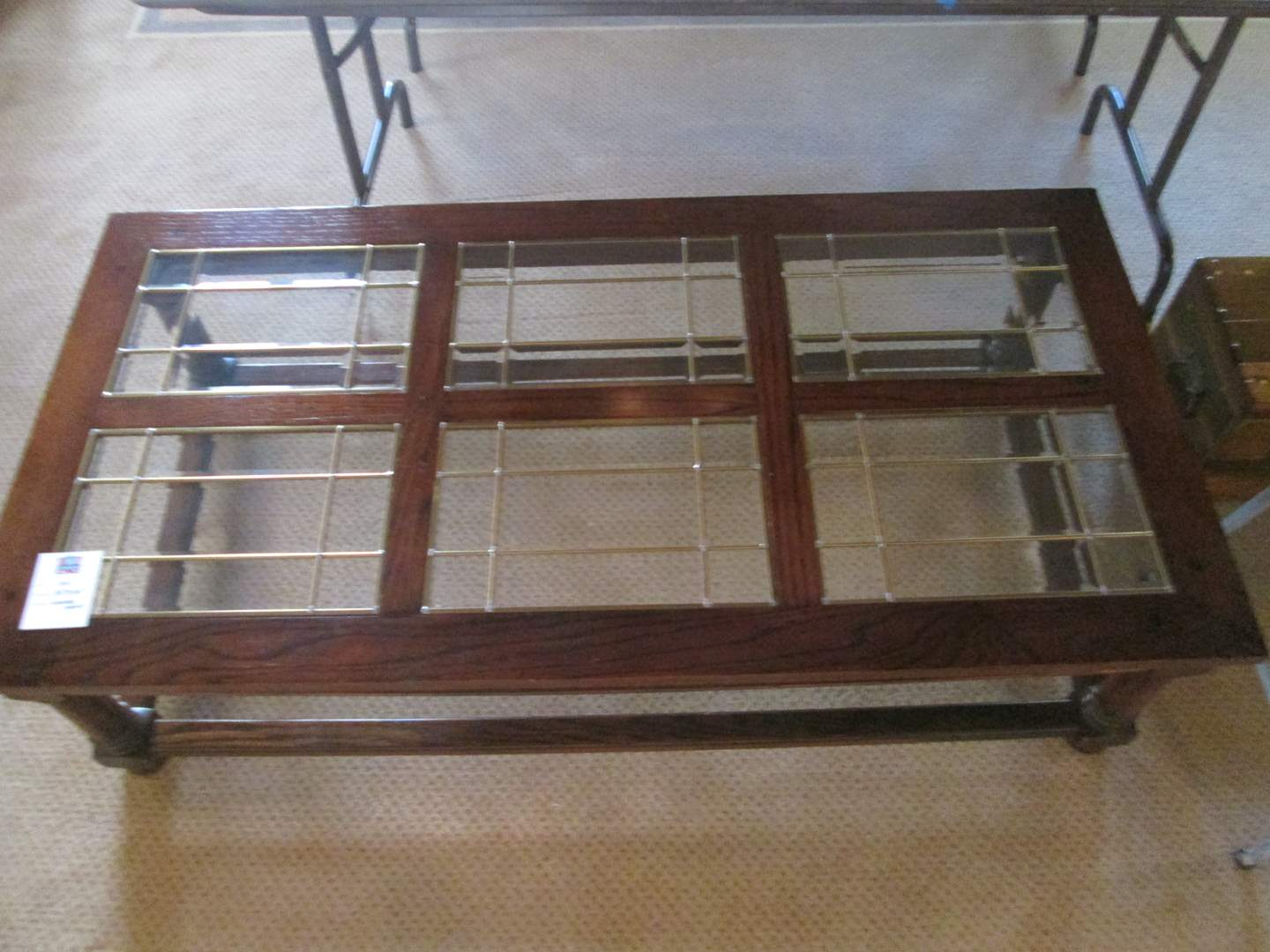 Lot # 306 - Coffee Table, Wood with Glass Inserts (main image)