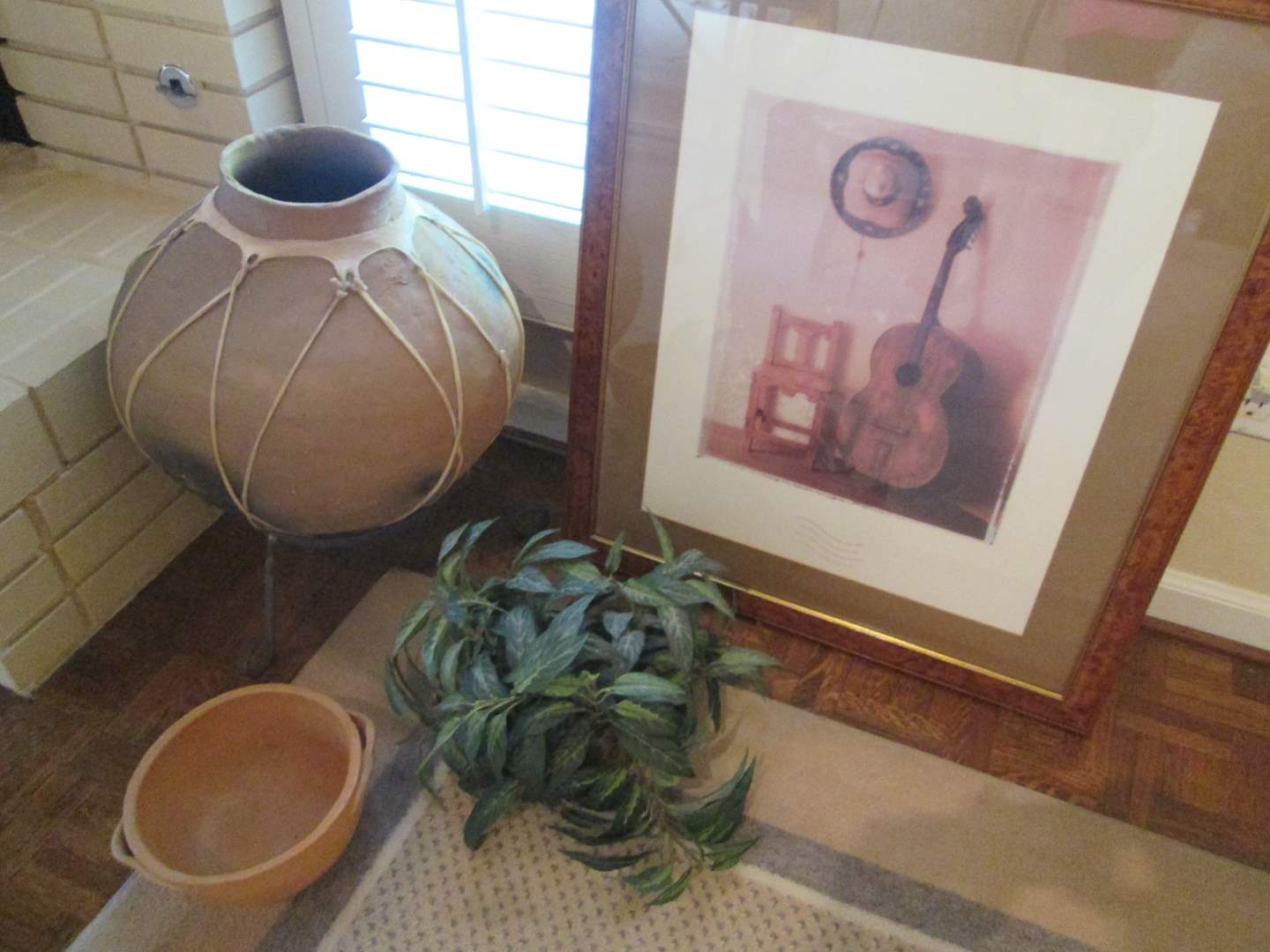 Lot # 316 - Accessory Group:  Picture, Floor Pot, Vase & Plant (main image)