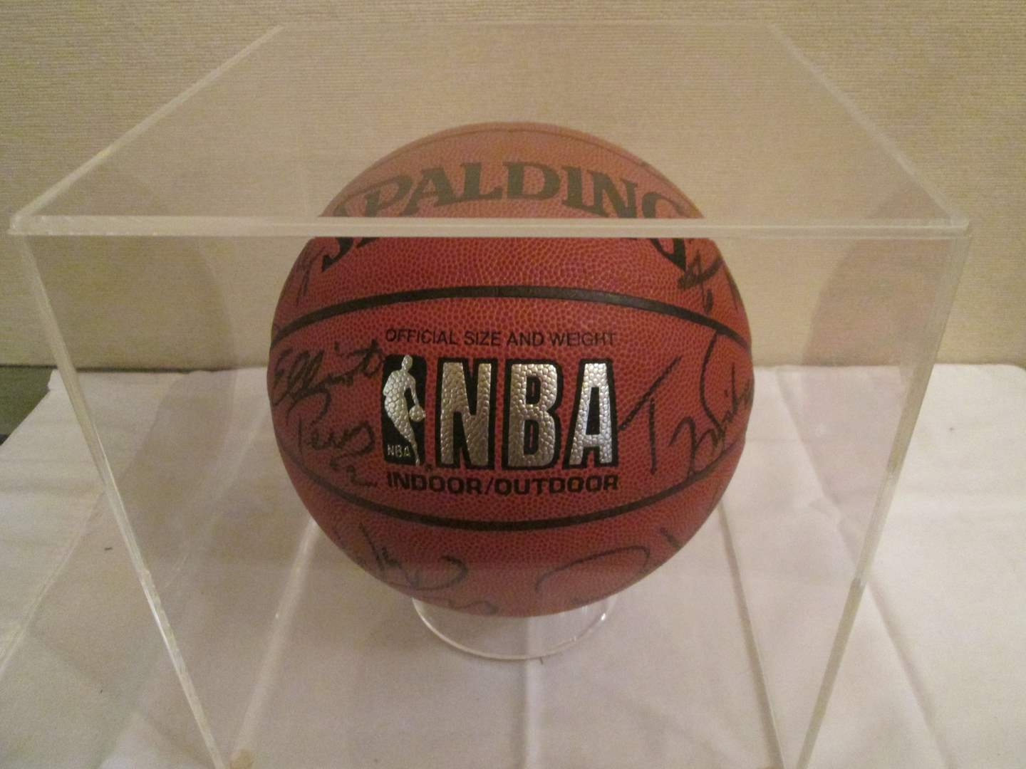 Lot # 319 - Autographed NBA Phoenix Suns Basketball, Paul Westfall, Coach (main image)