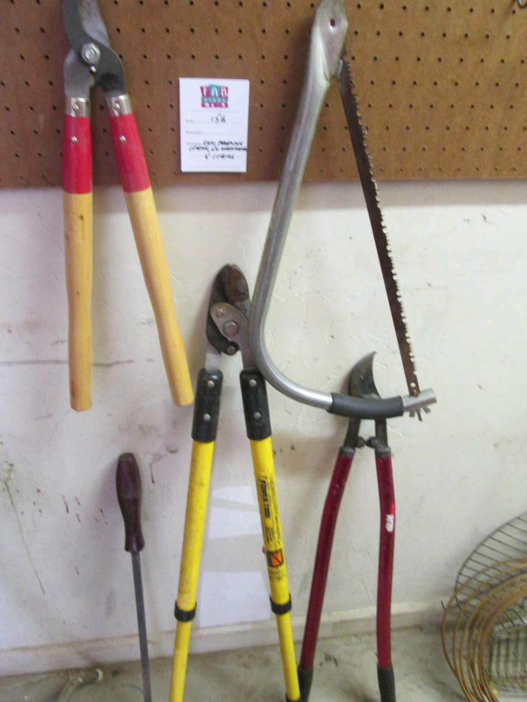 Lot # 156 - Saw, Pruning Tools, 5 Items (main image)