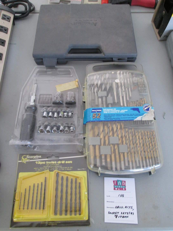 Lot # 168 - Drill Bits & 2-Socket Sets, 4 Items (main image)