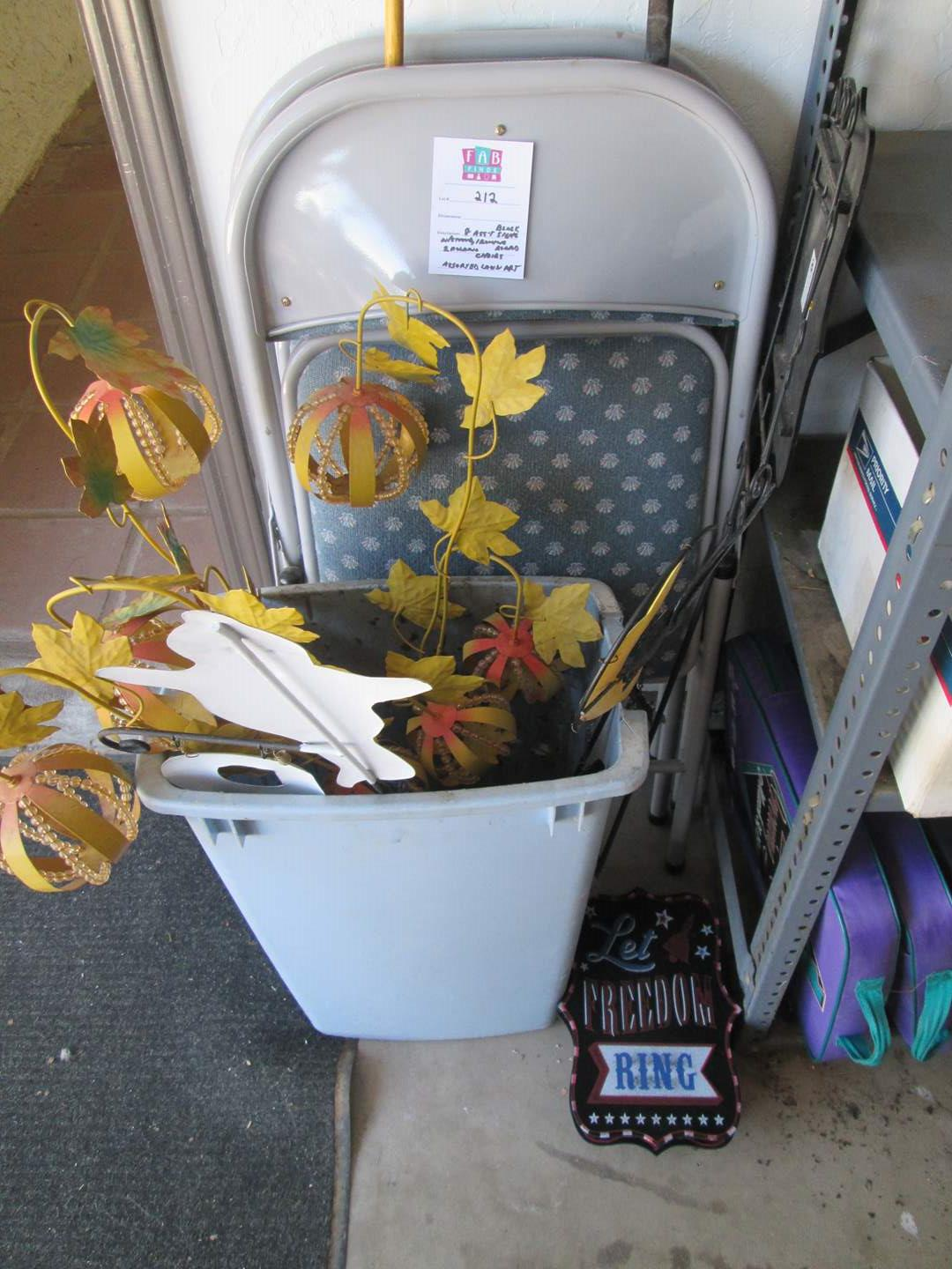 Lot # 212 - 2-Folding Chairs & Assorted Lawn Art (main image)