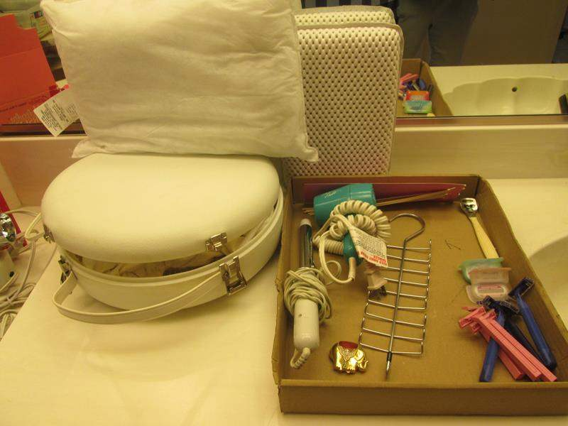 Lot # 2 - Hair Dryers, Curling Iron & Bathroom Miscellaneous  (main image)