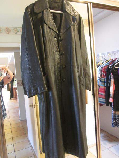 Lot # 6 - Black Leather Coat (main image)