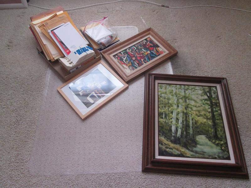Lot # 14 - Office Supplies & Framed Wall Art (main image)