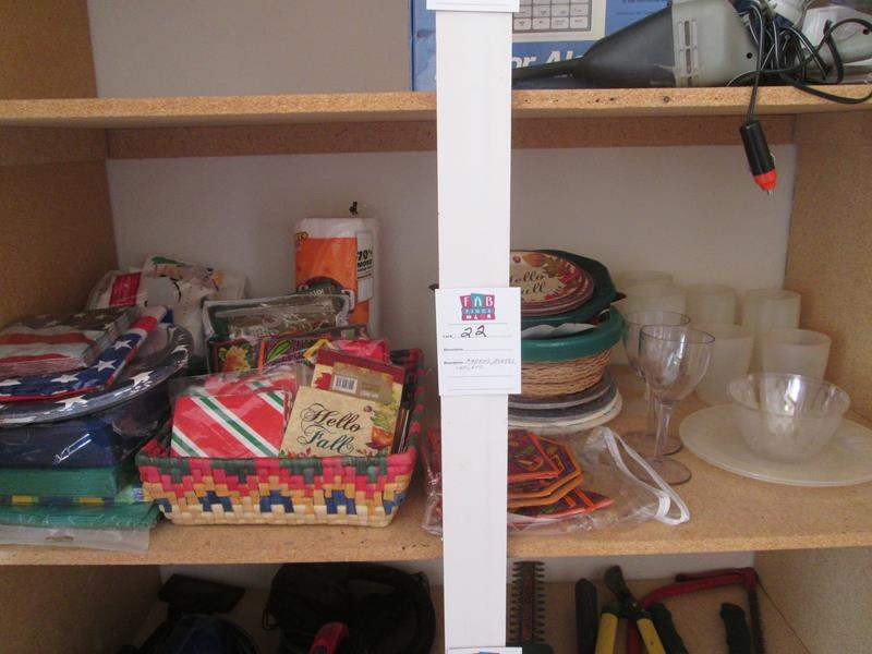 Lot # 22 - Assorted Paper & Plastic Goods (main image)