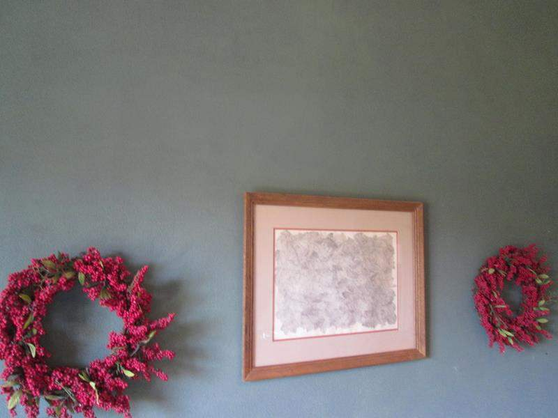 Lot # 41 - 2-Wreaths & Framed Picture (main image)