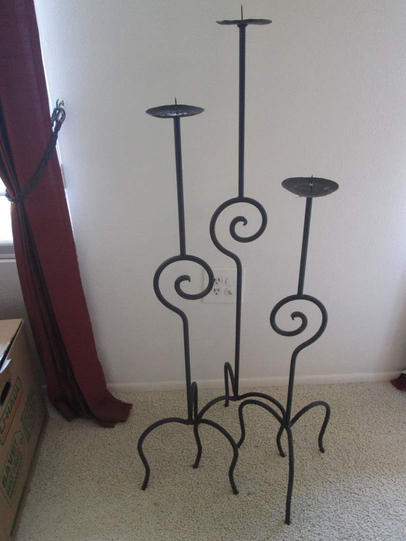 Lot # 47 - 3-Candle Holders (main image)