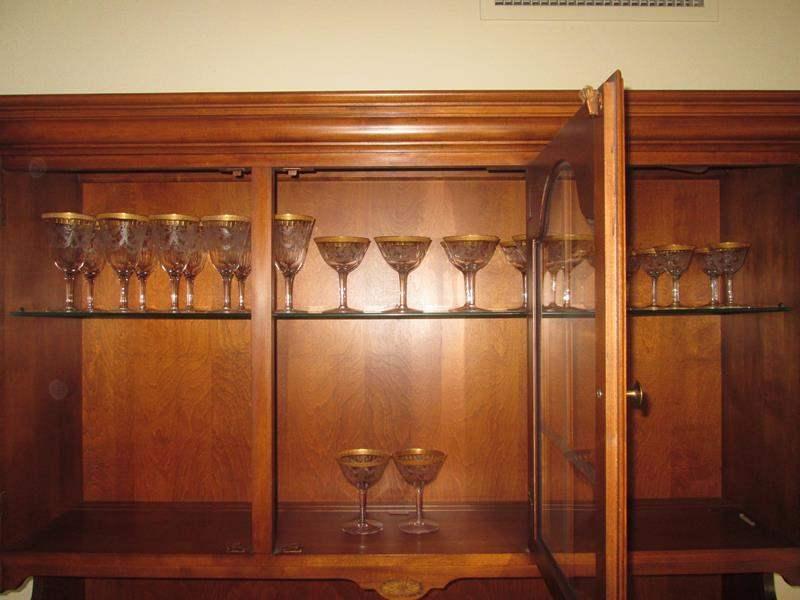 Lot # 55 - 29 Goblets, Gold Trim & Etched (main image)