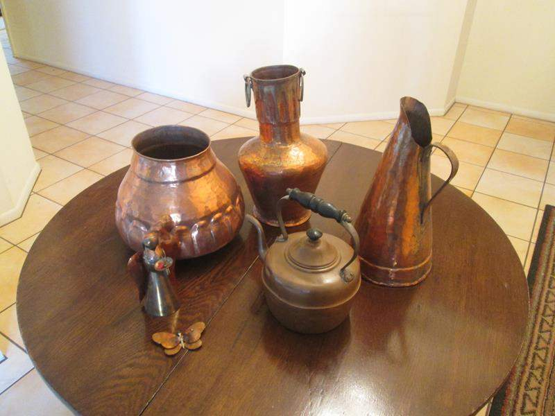 Lot # 60 - Assorted Copperware Pieces (main image)