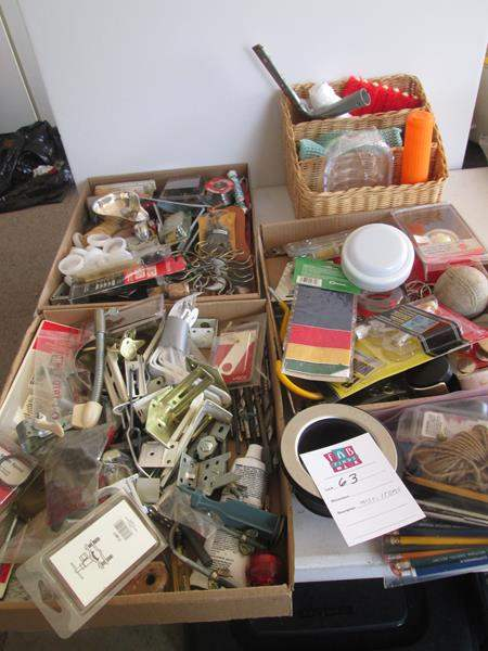 Lot # 63 - Miscellaneous Boxed Lots, Garage/Household Items (main image)