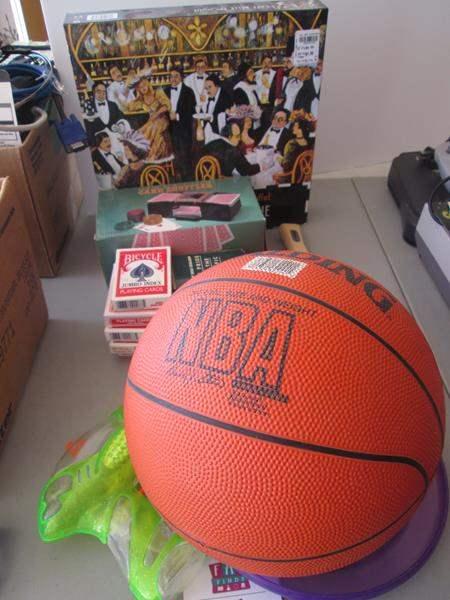 Lot # 75 - NBA Basketball, Games, Cards & Card Shuffler, Puzzle (main image)