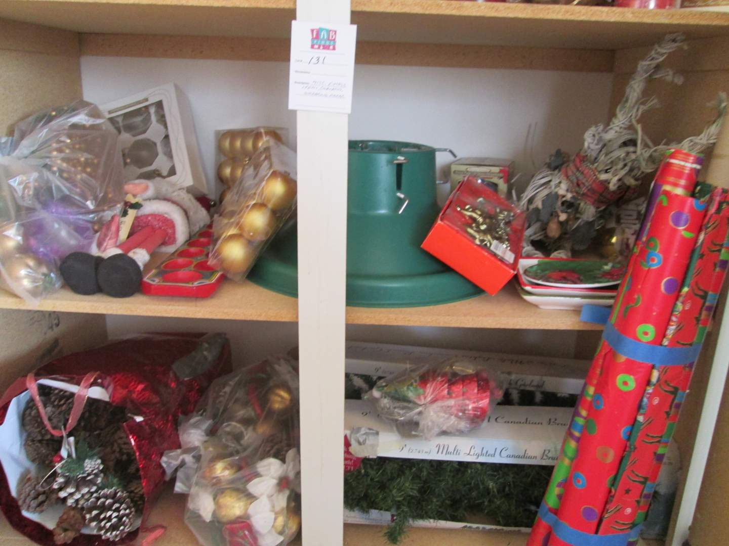 Lot # 131 - Christmas Decor & Wrapping Paper (main image)